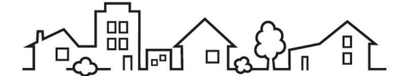 vektorgrafik av flera små hus på rad